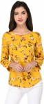 Casual 3/4th Sleeve Printed Women's Top in Discount