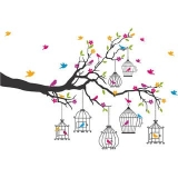 Flower and Birds Wall Sticker