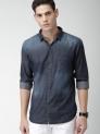 Highlander Blue Slim Fit Denim Shirt