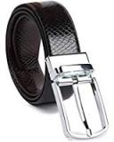 KAEZRI Reversible Pu-Leather Formal Belt for Men