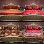 Pack of 3 Double Bedsheets + One Double Bed Fleece Blanket