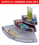 Beautiful Wall-mounted Acrylic Corner Shelves (3 pcs)