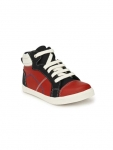 TUSKEY Boys Colourblocked Leather High-Top Sneakers