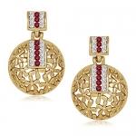 Vk Jewels Gold Alloy Dangle & Drop Earrings For Women