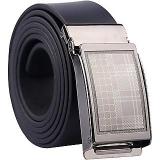 Black Leatherite Clamp Buckle Belt for Men