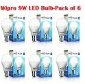 Wipro 9W LED Bulb Day Light – Pack of 6
