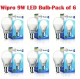 Wipro 9W LED Bulb Day Light – Pack of 6