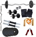 HOME GYM SET WITH 3 FEET CURL ROD Home Gym Combo  0 – 20 kg